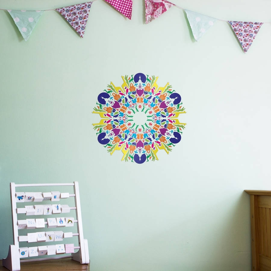 Animal Kingdom Mandala Wall Art Stickervinyl Revolution Within Most Recently Released Mandala Wall Art (View 2 of 20)