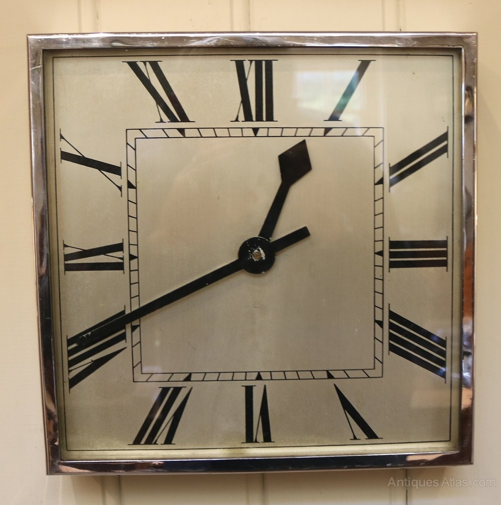 Antiques Atlas – Art Deco Wall Clock (England, C (View 2 of 20)
