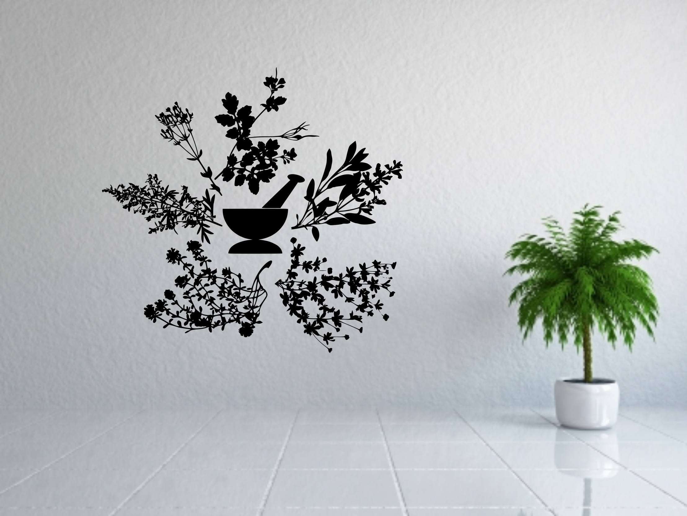 Apothecary Wall Art, Apothecary Sign, Apothecary Decor, Herbs Decal Within Most Popular Herb Wall Art (View 18 of 20)
