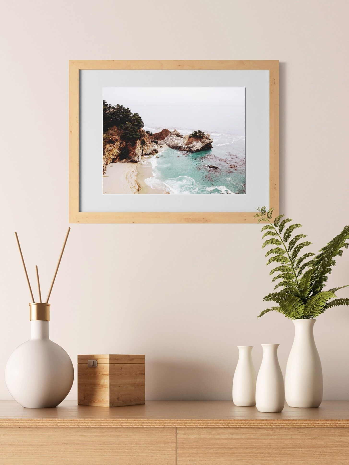 Appealing Coastal Landscape Wall Art Decor California Print Picture Regarding Current California Wall Art (Gallery 13 of 20)
