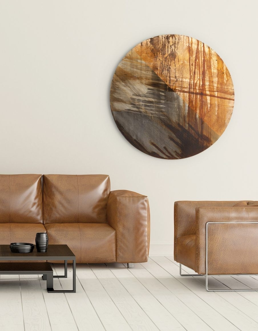 Appealing Copper Wall Art Home Decor Circle Art Copper Circle Copper Intended For Most Recently Released Circle Wall Art (View 13 of 20)