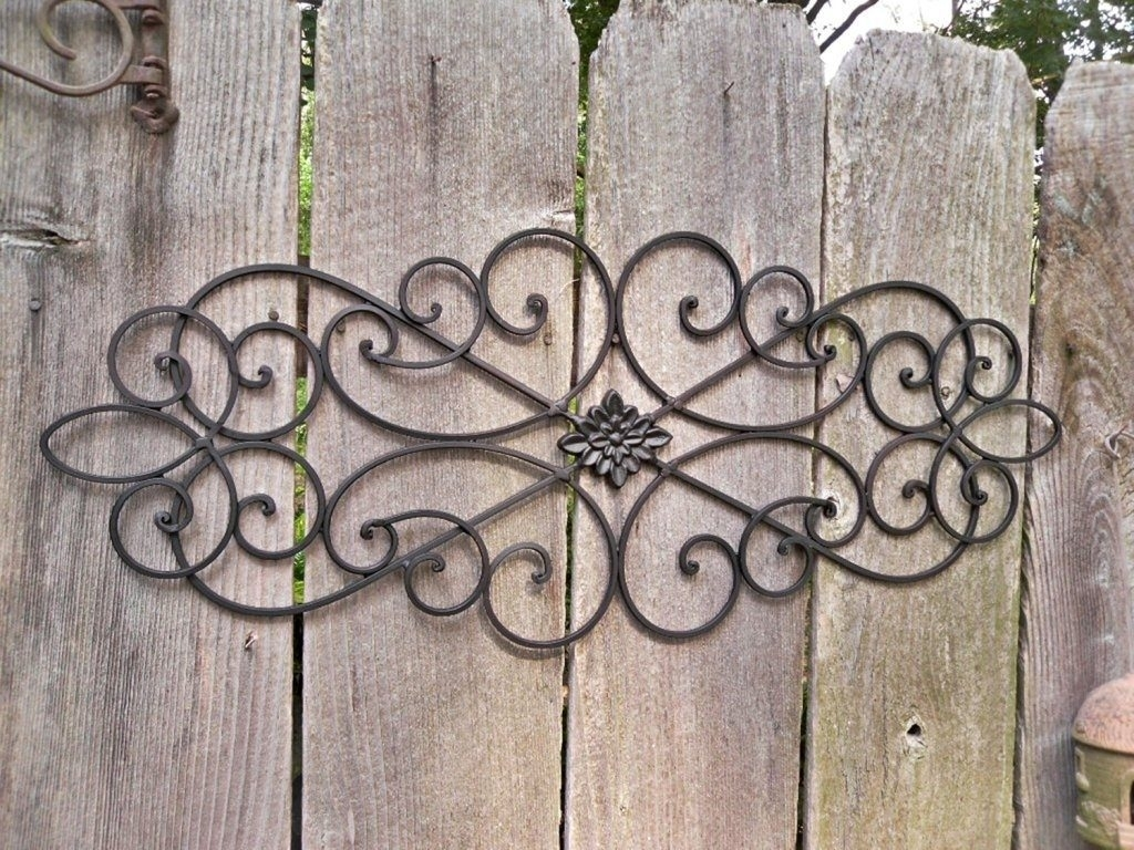Appealing Large Outdoor Wrought Iron Wall Decor As Well As Outdoor With Most Recent Wrought Iron Wall Art (View 1 of 15)
