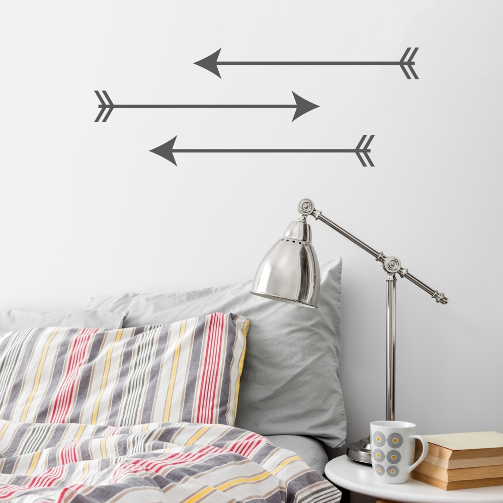 Arrow Trio Wall Art Decal Intended For 2017 Arrow Wall Art (View 2 of 20)