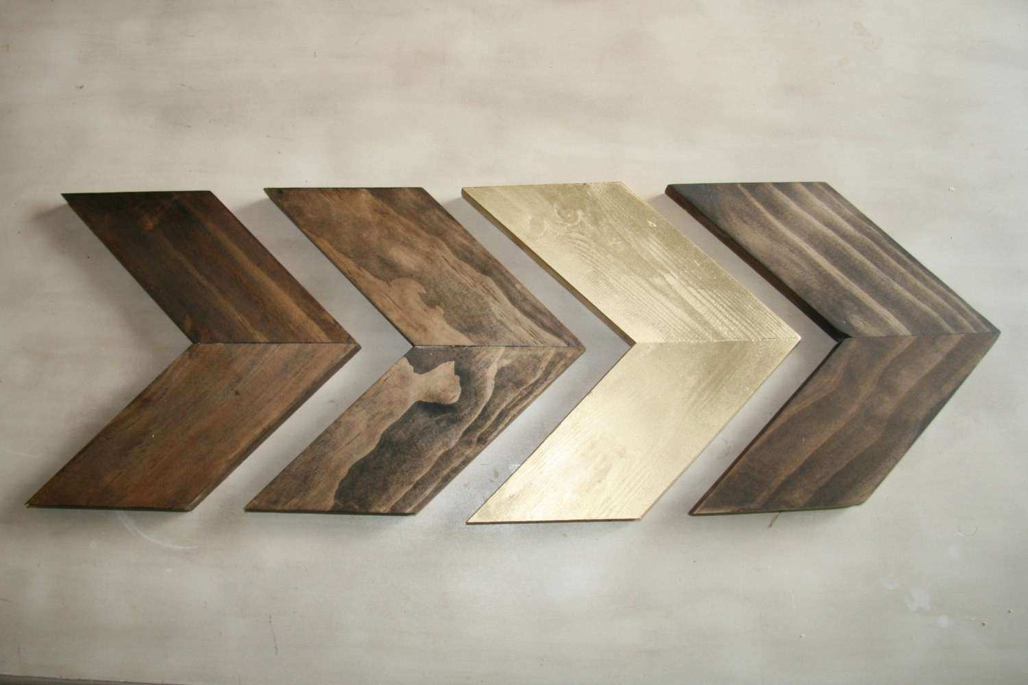Arrow Wall Decor Unique Wood Chevron Arrows Wood Arrow Wall Art With Most Up To Date Chevron Wall Art (View 2 of 20)