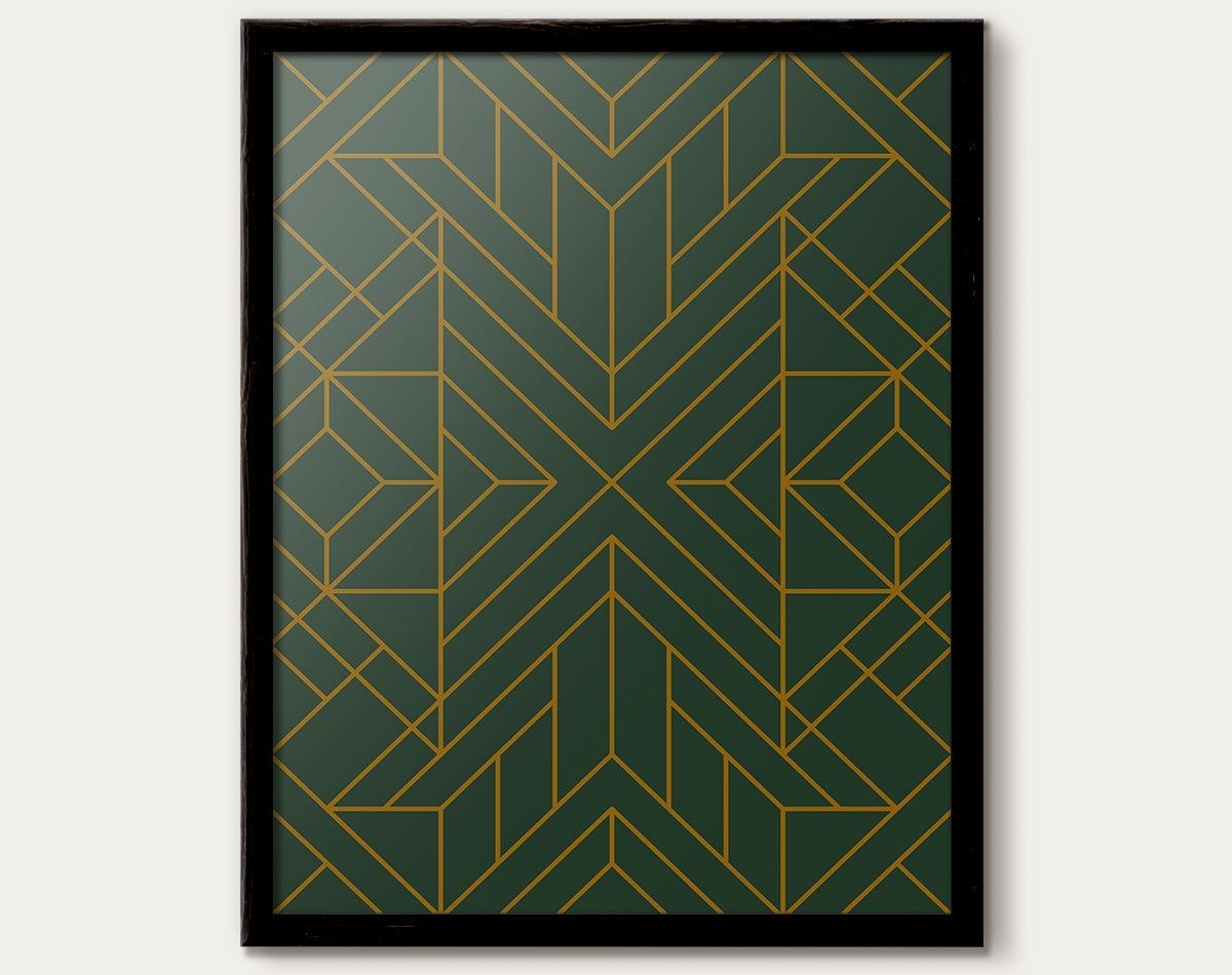 Art Deco Print, Art Deco Poster, Art Deco Decor, Art Deco Pattern Regarding Most Popular Art Deco Wall Art (View 16 of 20)