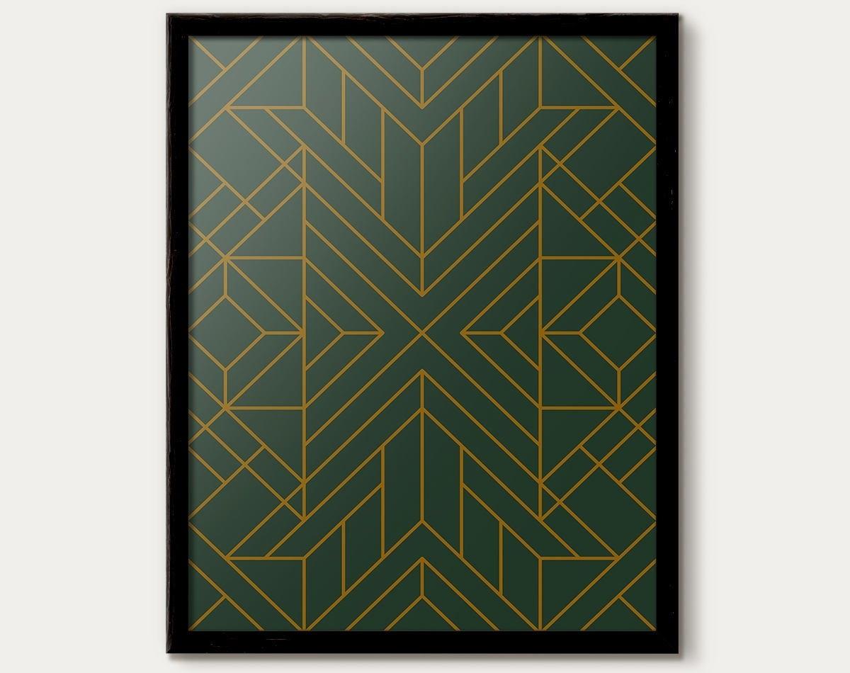 Art Deco Print, Art Deco Poster, Art Deco Decor, Art Deco Pattern Regarding Most Popular Art Deco Wall Art (View 5 of 20)