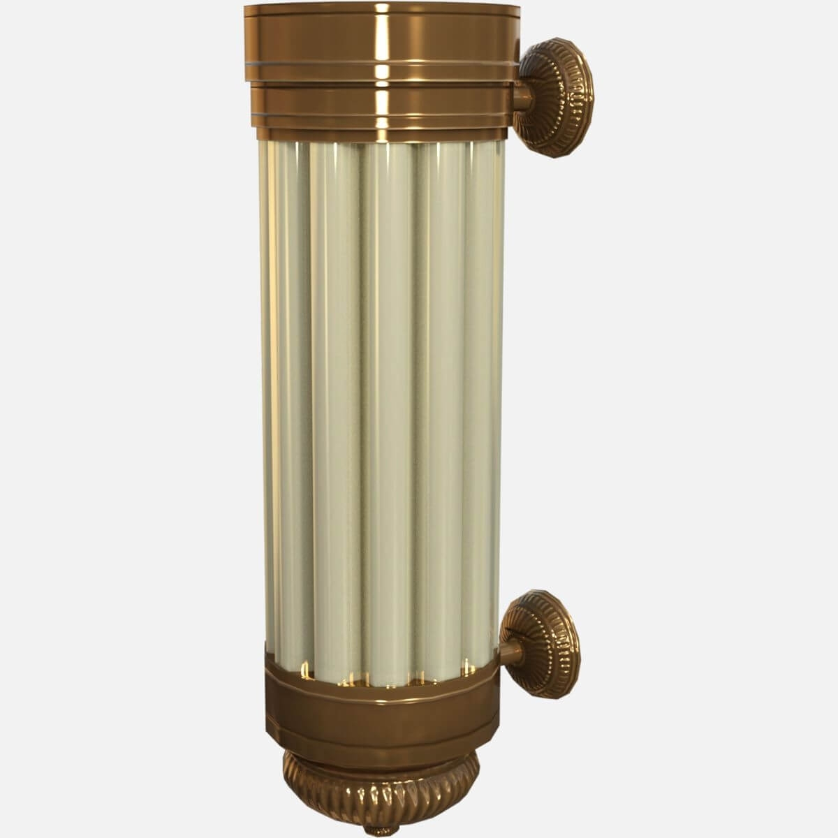 Art Deco Wall Sconce Light 3D Model Throughout Current Art Deco Wall Sconces (View 8 of 20)