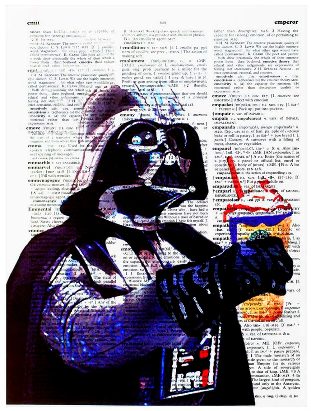 "Art N Wordz Star Wars Darth Vader ""may The Froth Be With You In Most Recently Released Darth Vader Wall Art (View 17 of 20)"