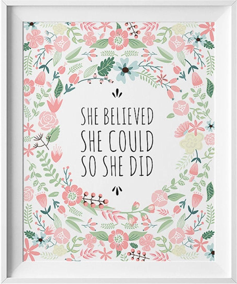 Art Wall Print With Wood Frame, She Believed She Could So She Did Regarding Best And Newest She Believed She Could So She Did Wall Art (View 8 of 20)