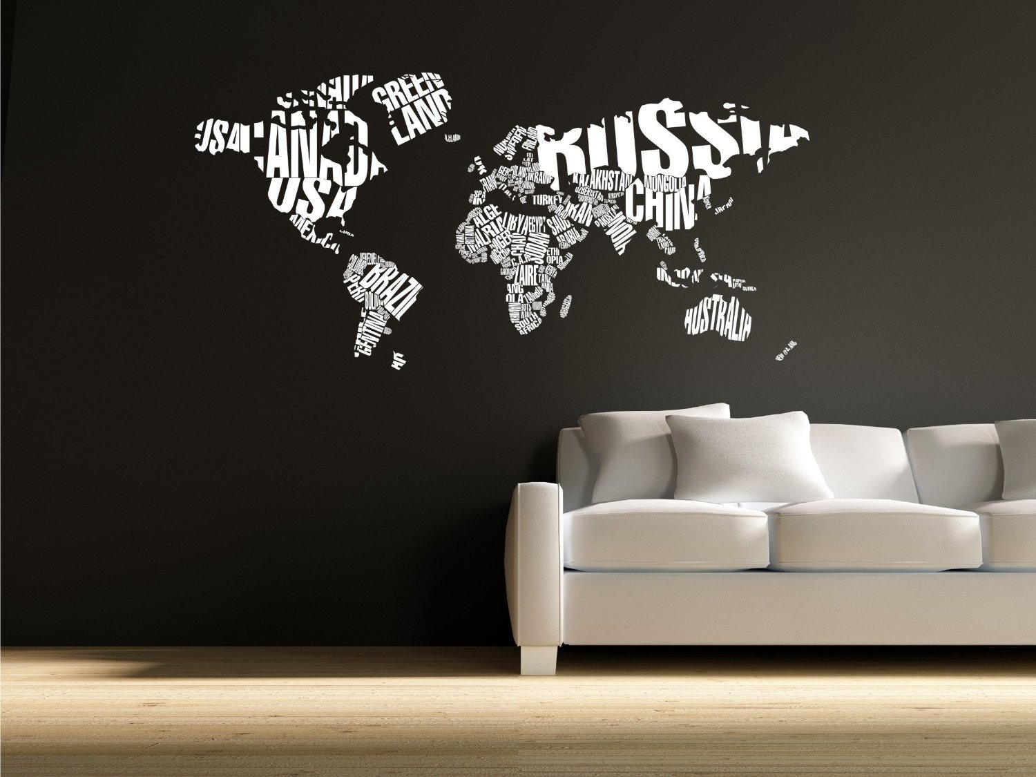 Articles With World Map Decor Wood Tag Wall Design For – Scrapsofme Intended For Most Popular Vinyl Wall Art World Map (View 3 of 20)