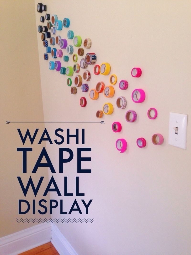 Artistic Wall Instillations {12 Months Of Making: Month 5} • Your Pertaining To Most Popular Washi Tape Wall Art (View 4 of 20)