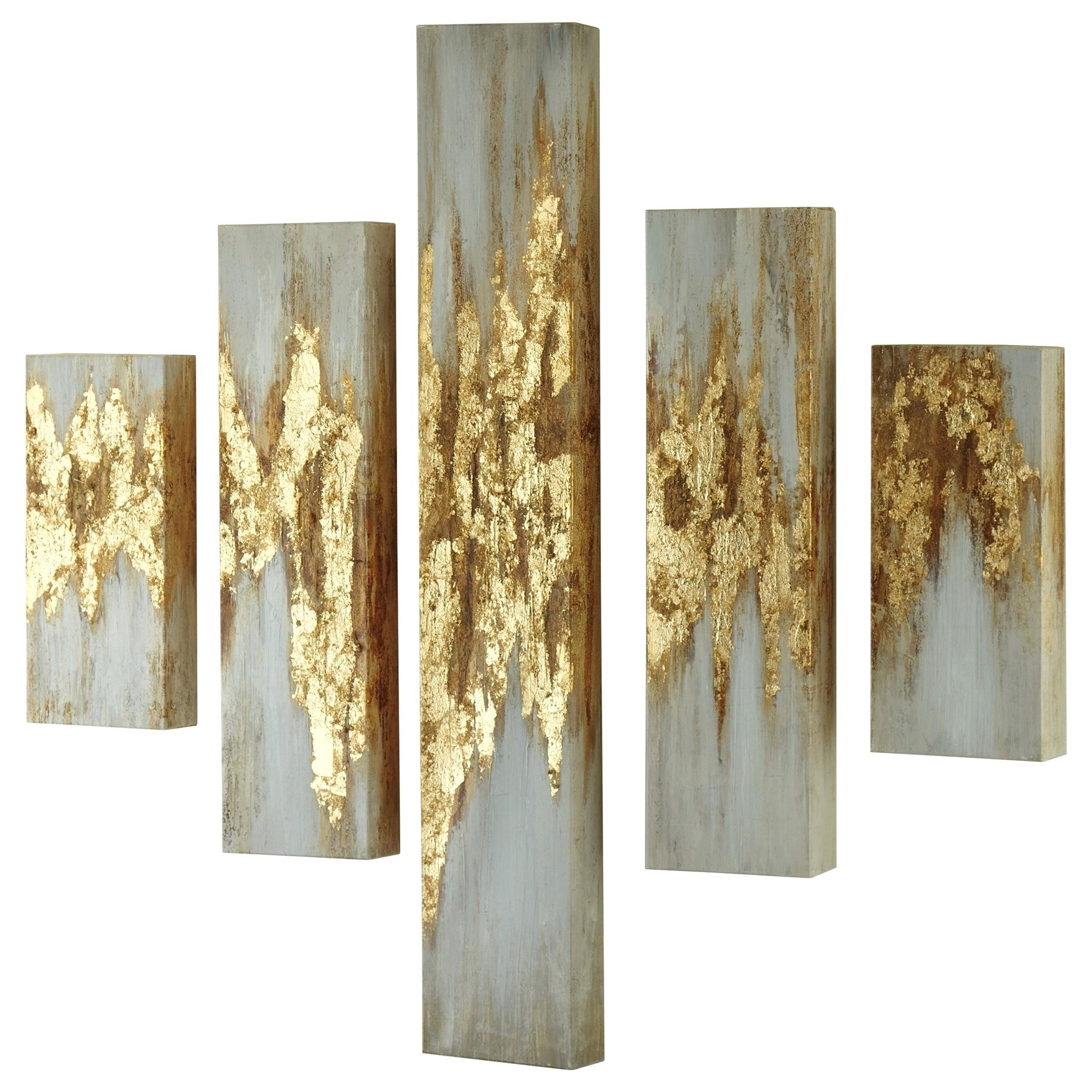 Ashley Wall Signature Designwall Art Gold Finish White Wall Art Pertaining To Latest Ashley Furniture Wall Art (View 9 of 15)