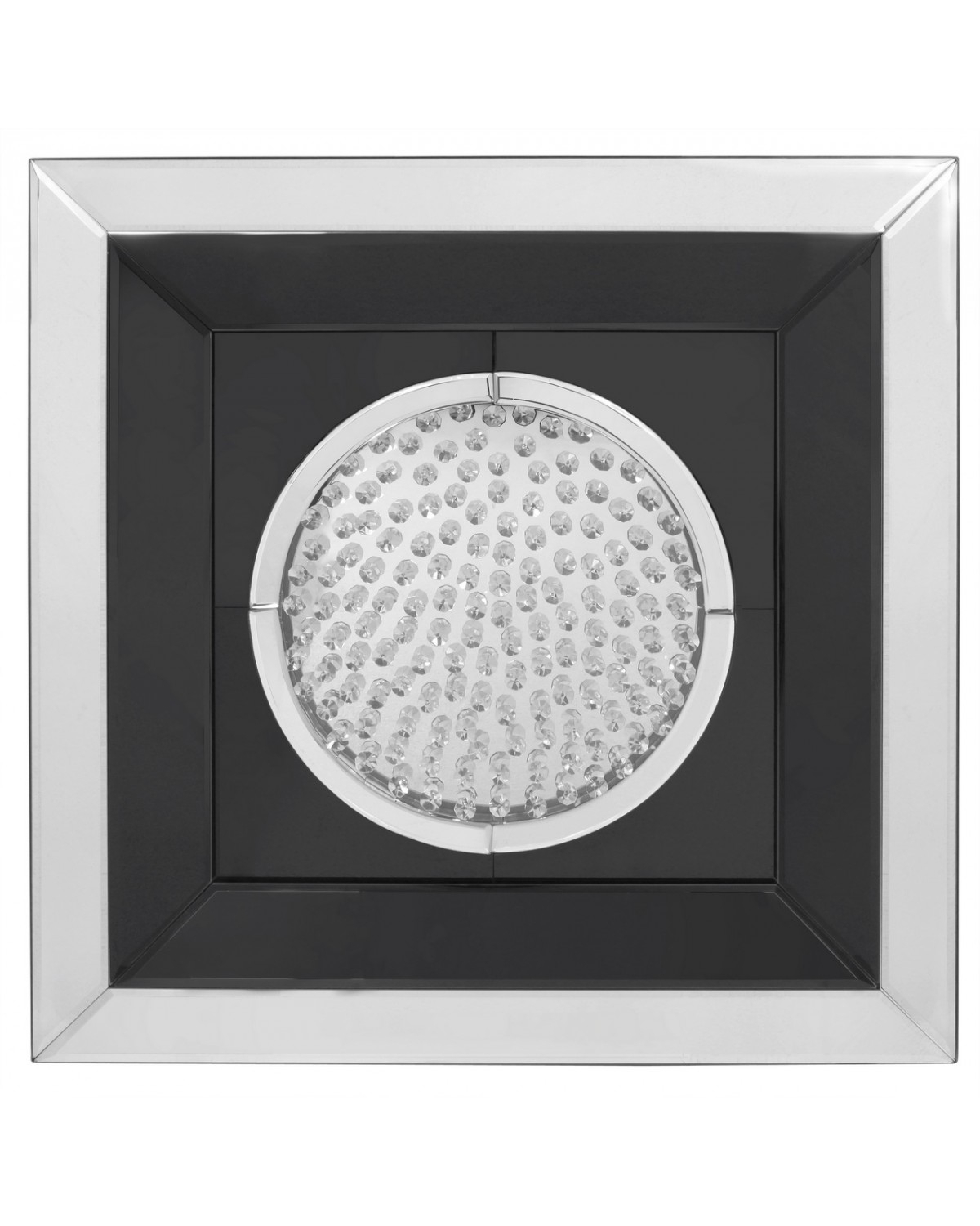 Astoria Black Mirror Medium Circle Wall Art | Cimc Home Pertaining To Best And Newest Circle Wall Art (View 4 of 20)
