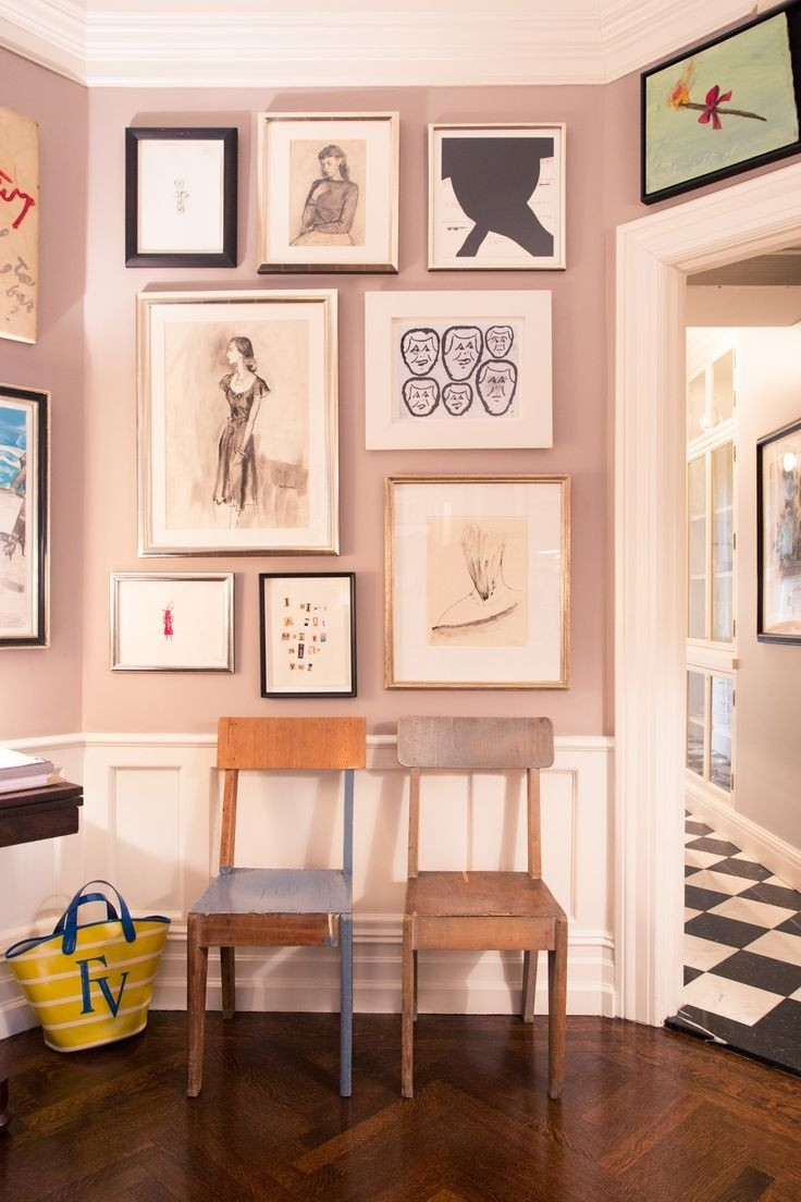 At Home With Andy & Kate Spade & Their Art Collection Scheme Of Kate With Best And Newest Kate Spade Wall Art (View 3 of 20)