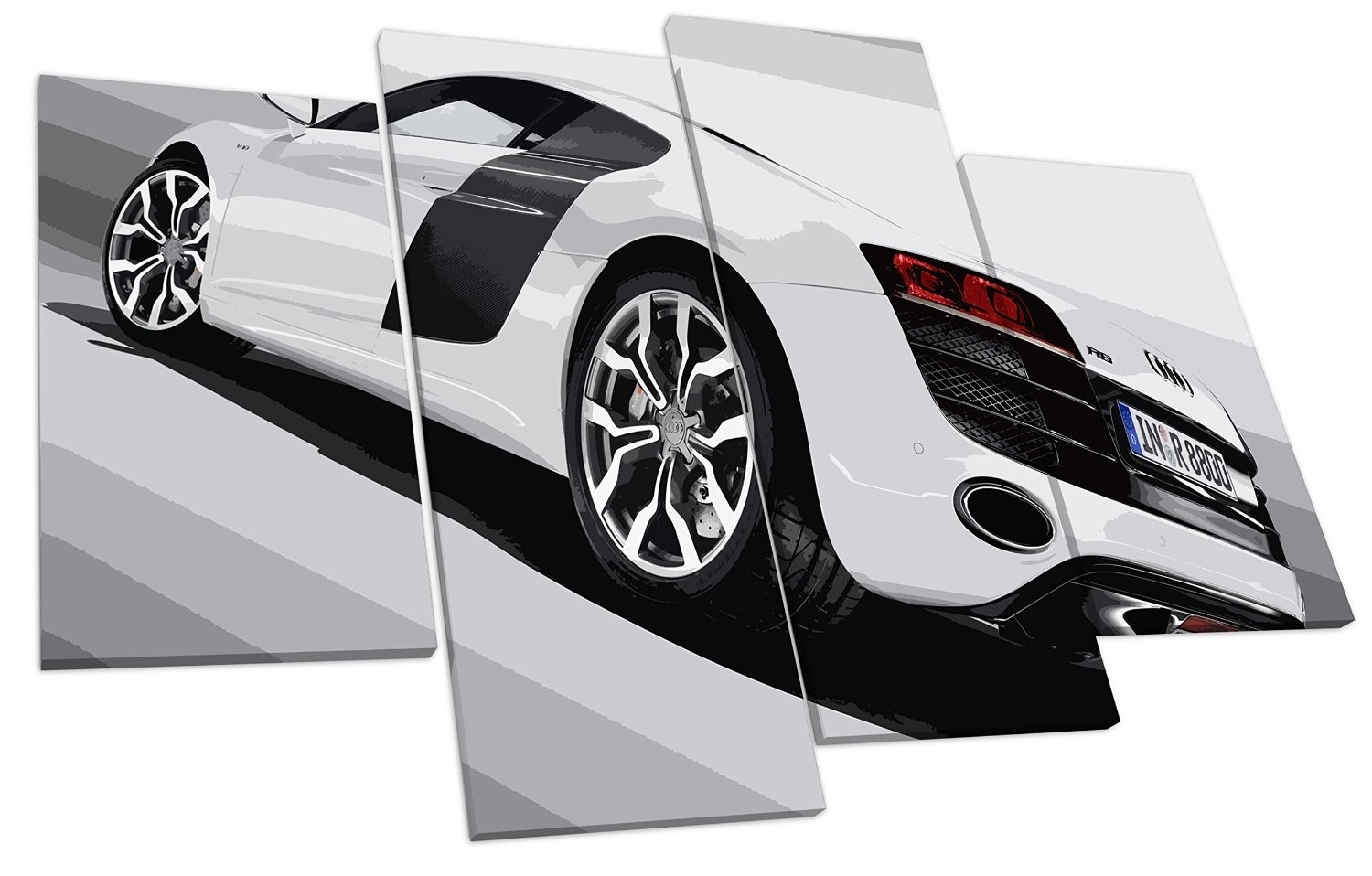 Audi R8 Super Car Canvas Wall Art Picture ~ Audi Picture Gallery Within Most Recently Released Car Canvas Wall Art (View 9 of 20)