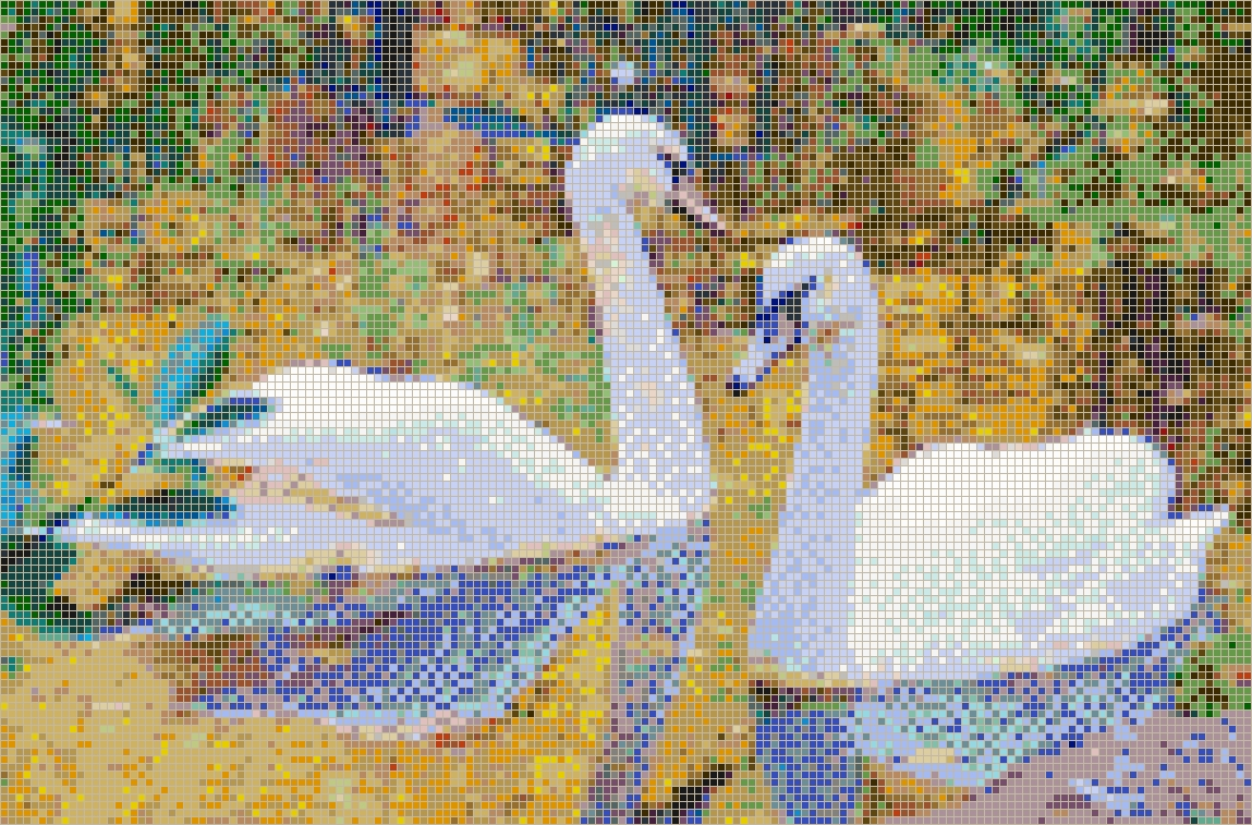 Autumn Swans – Framed Mosaic Wall Art For Best And Newest Mosaic Wall Art (View 3 of 15)