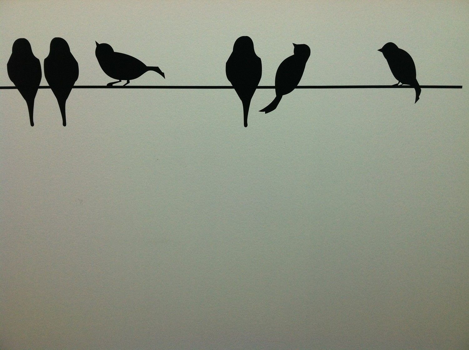 Awesome Birds On A Wire Wall Decor Unique Vinyl Lettering Art Pict Inside Best And Newest Birds On A Wire Wall Art (View 2 of 20)