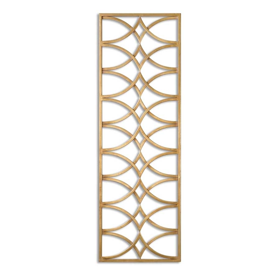 Azalea Metal Wall Art Gold Leaf Rectangular Arches Uttermost 7070 Within Most Up To Date Uttermost Wall Art (View 2 of 20)