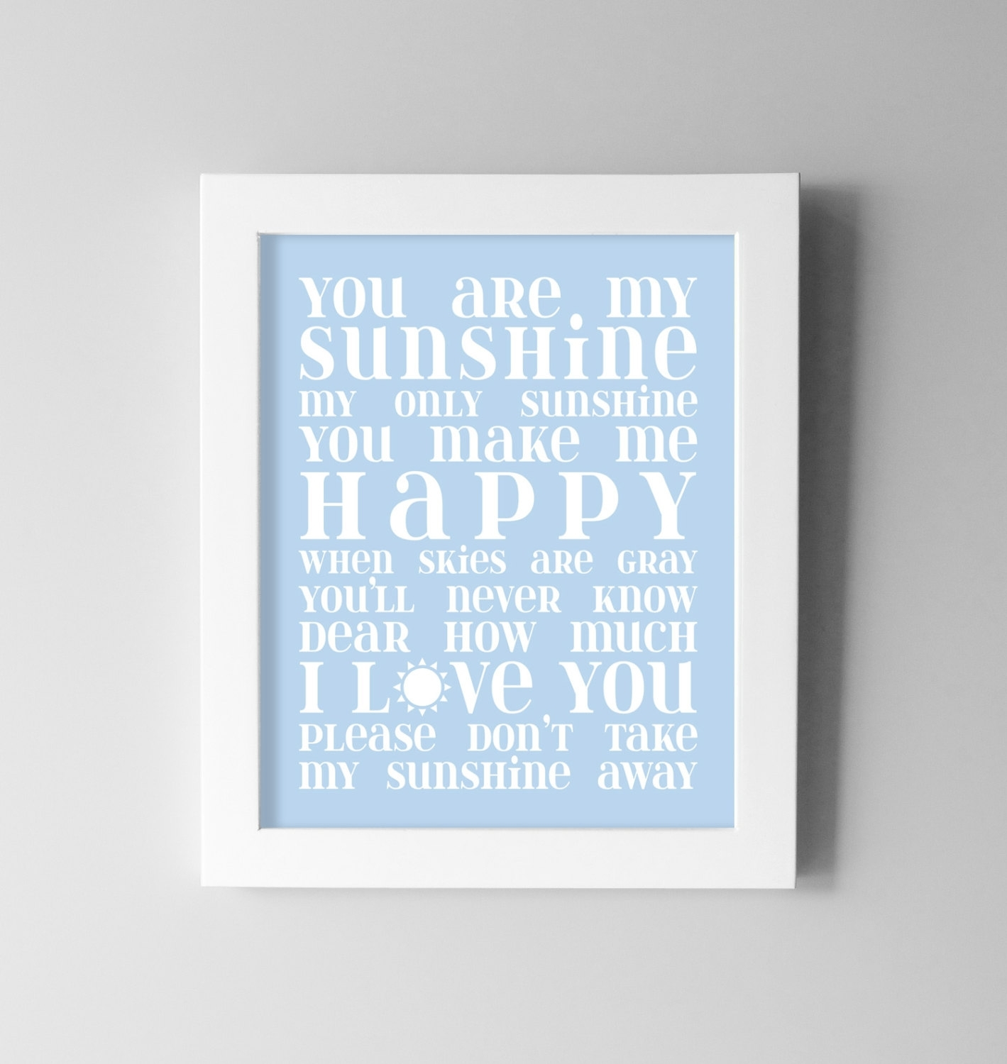 Baby Boy Nursery Wall Art You Nice You Are My Sunshine Wall Decor In Best And Newest You Are My Sunshine Wall Art (View 11 of 15)