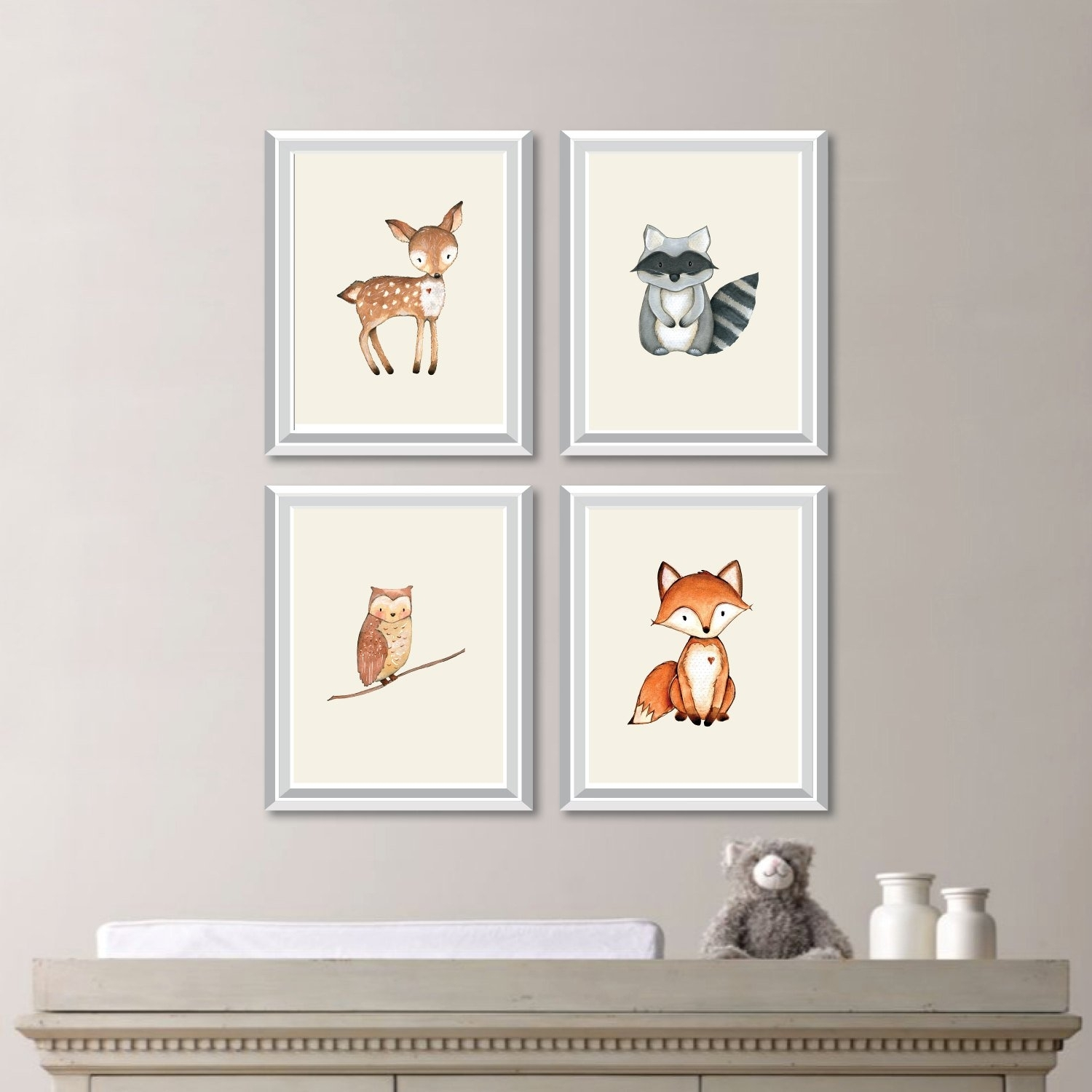 Baby Nursery Art. Woodland Nursery Art. Woodland Nursery Decor Inside Latest Woodland Nursery Wall Art (Gallery 14 of 20)