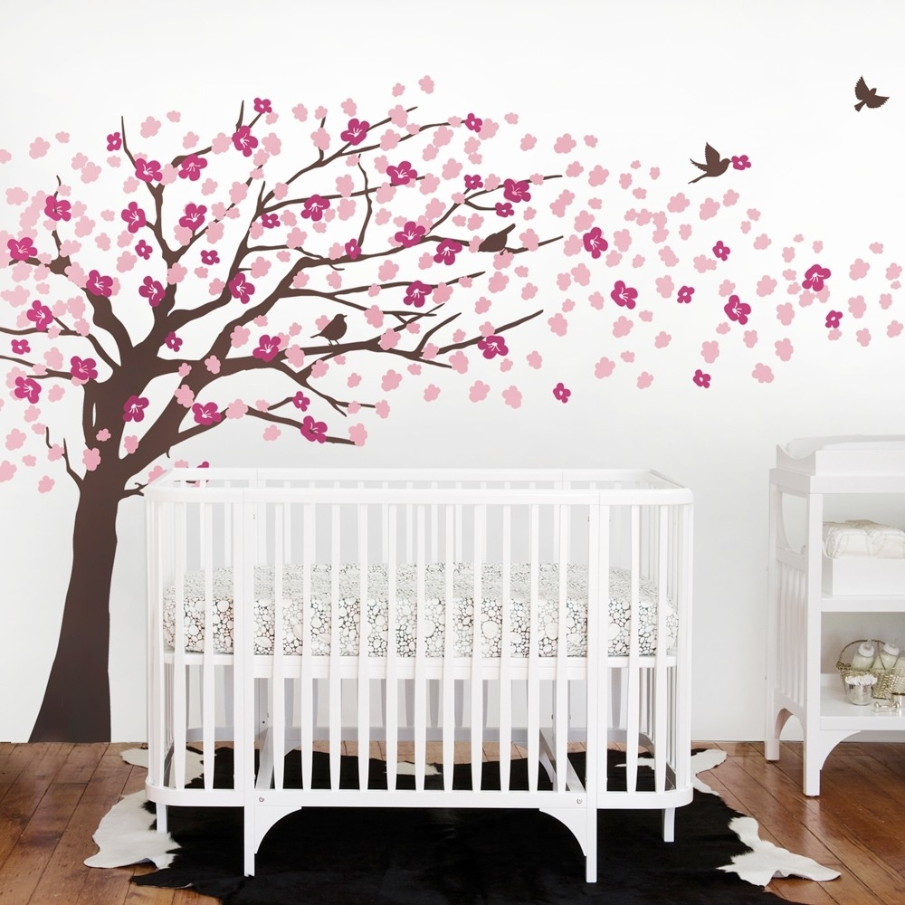 Baby Room Cherry Blossom Wall Art : Andrews Living Arts – Very For Most Current Cherry Blossom Wall Art (Gallery 8 of 20)