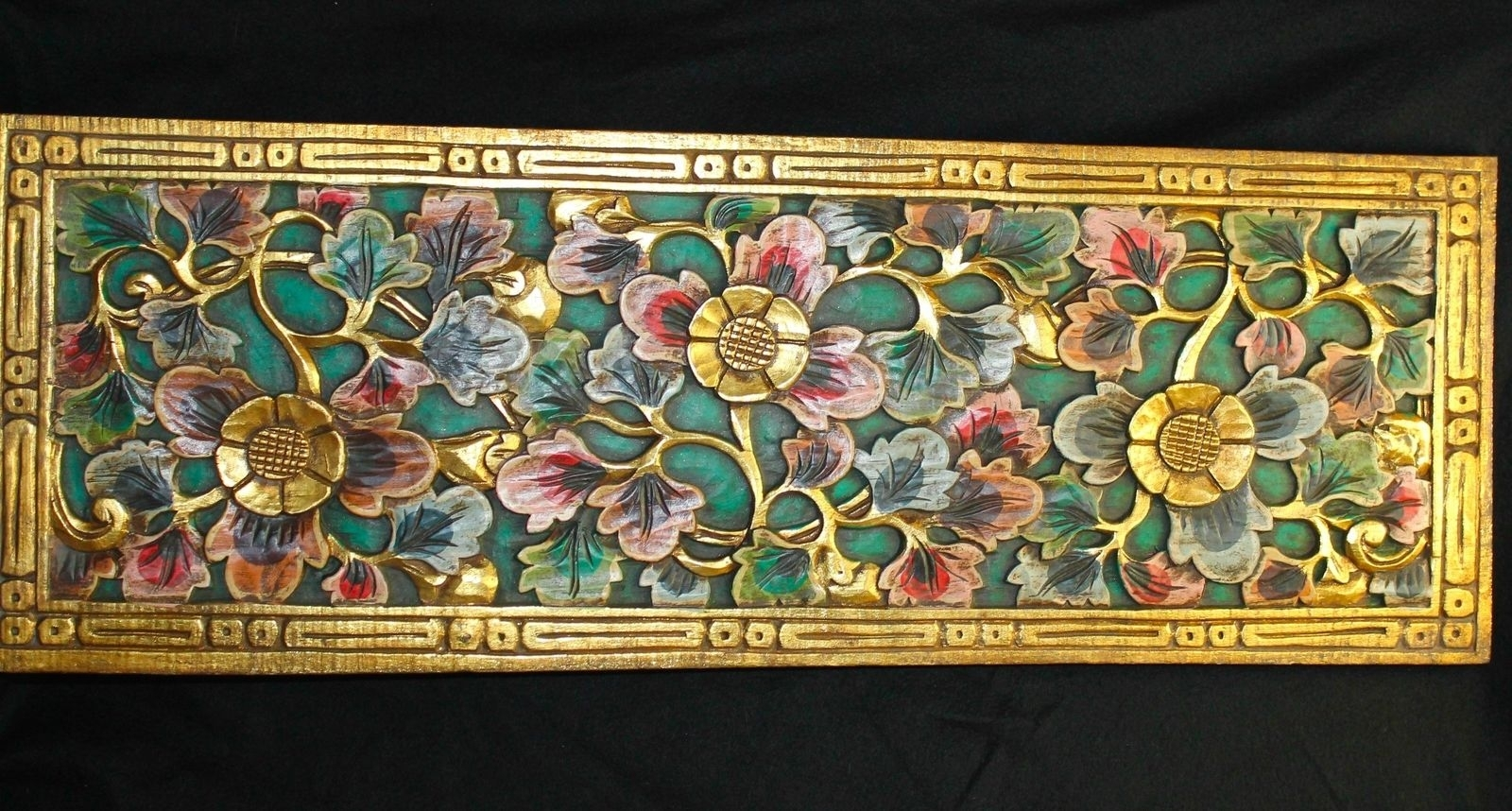 Balinese Lotus Architectural Panel Carved Wood Bali Wall Art In 2018 Wood Carved Wall Art (View 14 of 20)