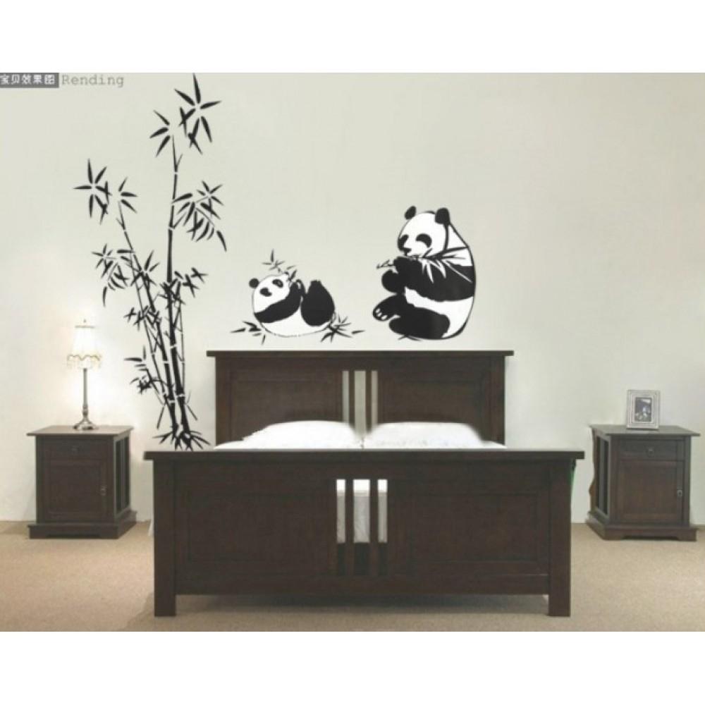 Bamboo And Panda Wall Sticker | Wall Art Decals, Vinyl Wall Stickers Regarding Recent Bamboo Wall Art (View 3 of 20)