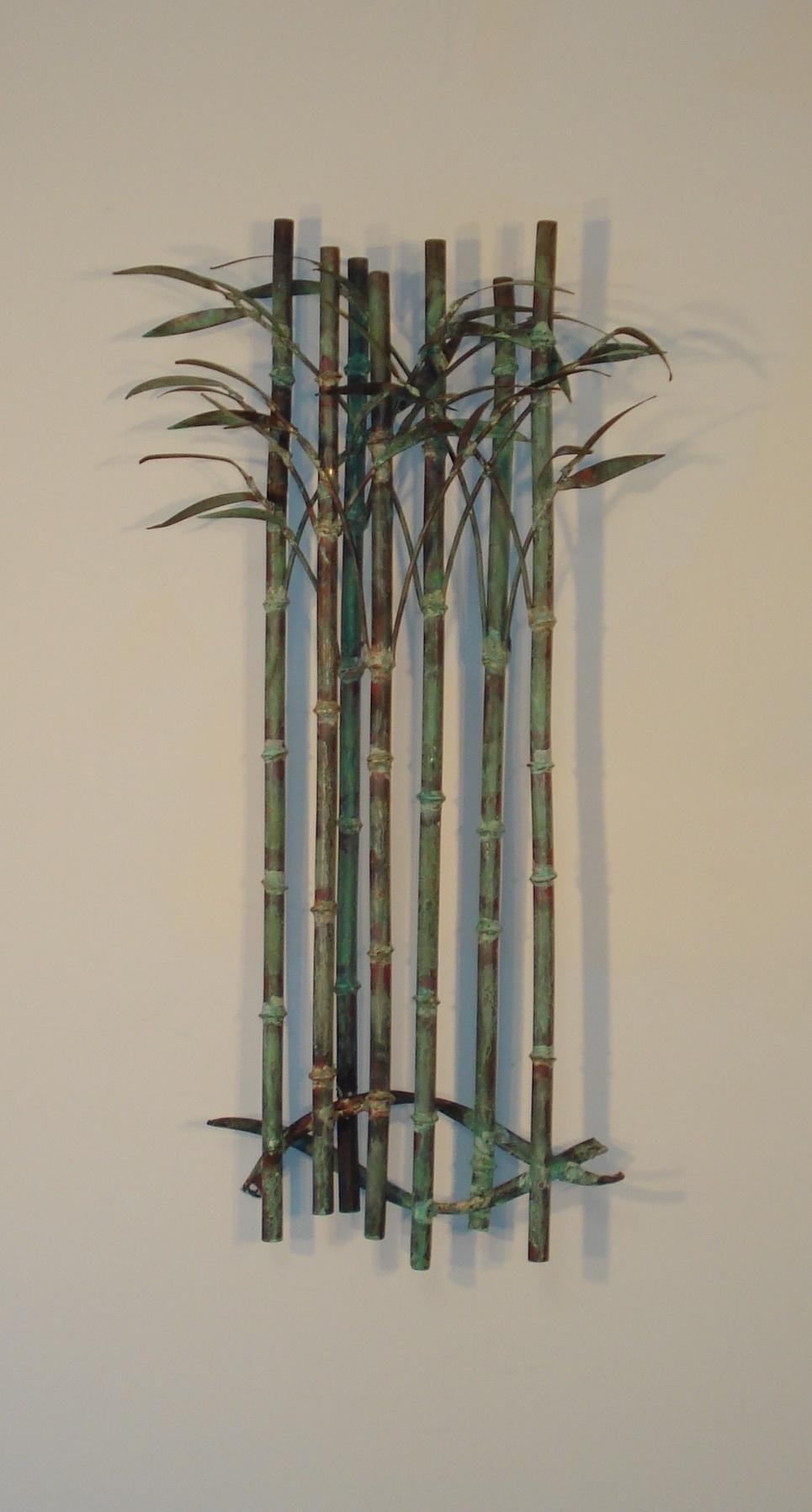 Bamboo Delight Metal Wall Art – Metal Wall Sculpture Decor – Gurtan Throughout Current Bamboo Wall Art (View 3 of 20)