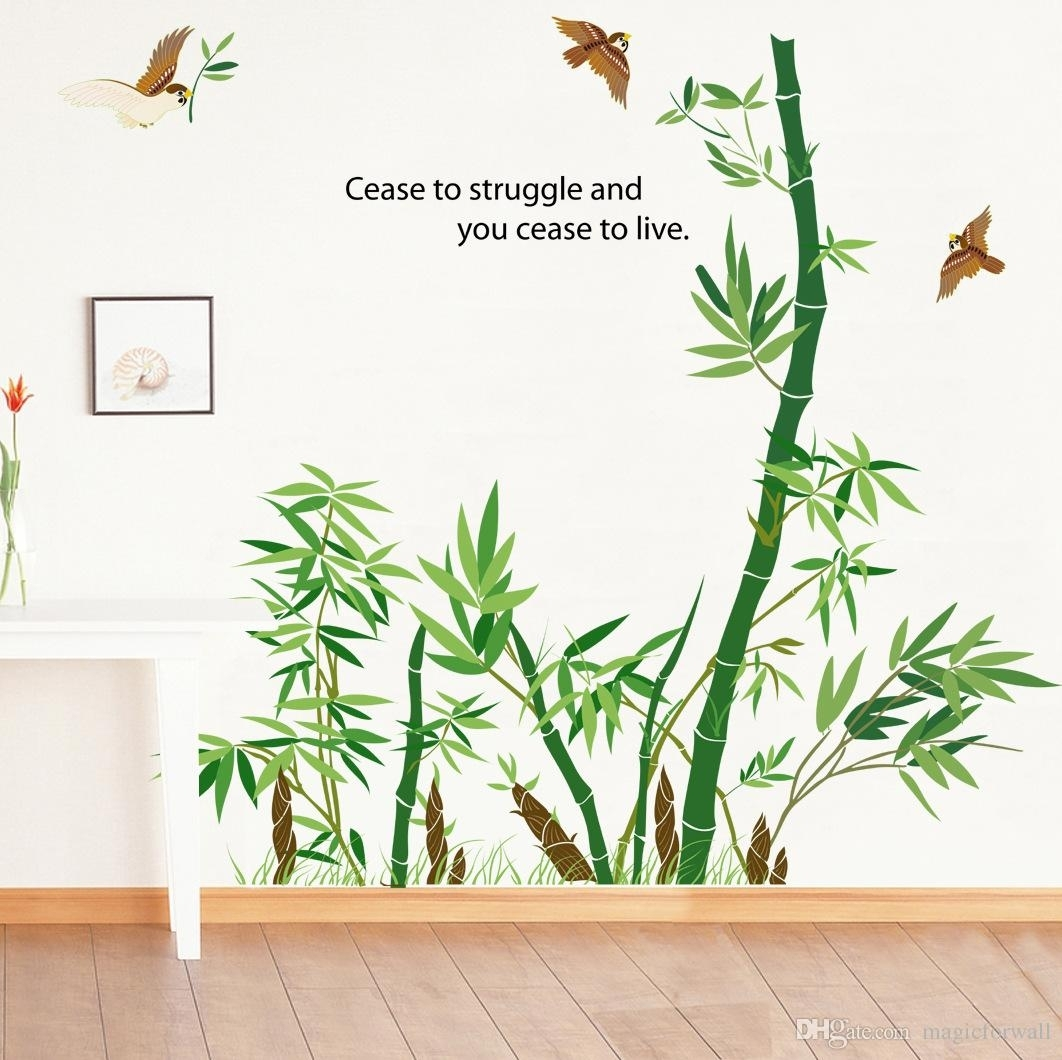 Bamboo Forest Wall Art Mural Decor Cease To Struggle And You Cease With Recent Bamboo Wall Art (View 6 of 20)