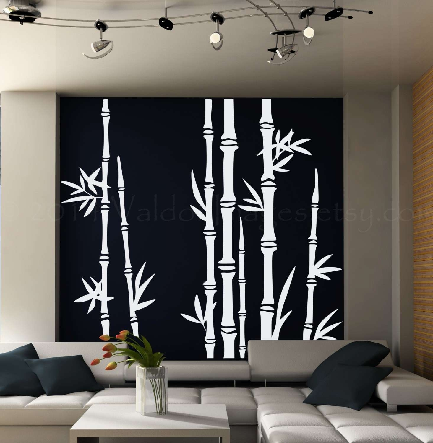 Bamboo Wall Art New Bamboo Wall Decal Asian Art Wall Stickers Lush Throughout Best And Newest Bamboo Wall Art (View 9 of 20)