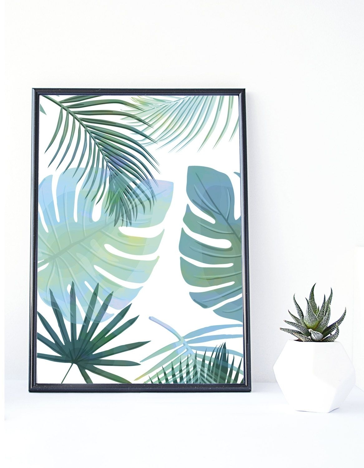 Banana Leaf Print, Tropical Art,instant Download, Palm Print For 2017 Tropical Wall Art (View 8 of 20)