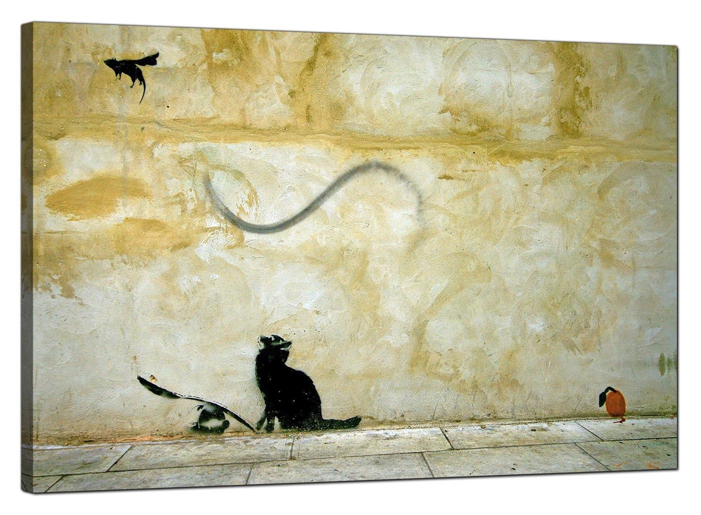 Banksy Canvas Prints – Cat And Mouse For Latest Cat Canvas Wall Art (View 7 of 20)
