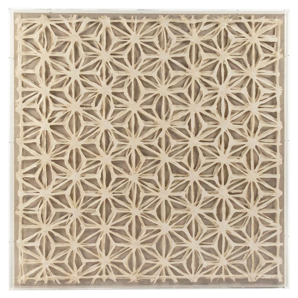 Bari Modern Classic Abstract Geometric Acrylic Framed Paper Wall Art Pertaining To Recent Paper Wall Art (View 2 of 20)