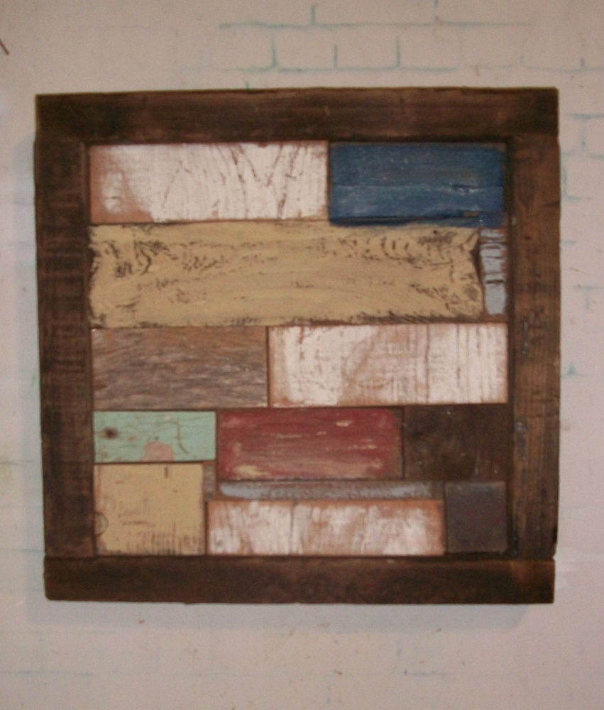Barnwood Wall Art Rustic Decor Reclaimed Wood Sculpture Ebay, Rustic For Most Recent Rustic Wall Art (Gallery 10 of 15)