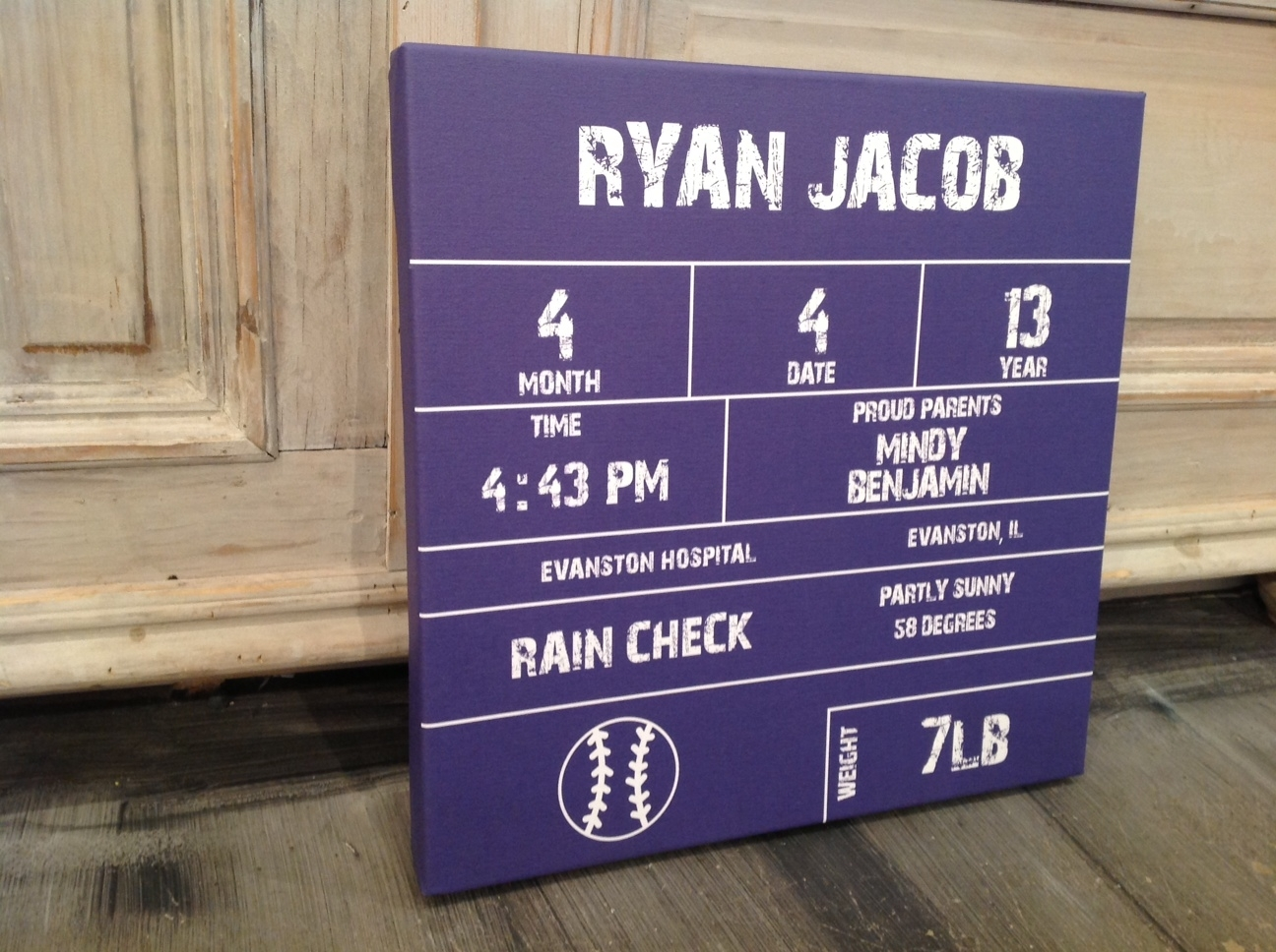 Baseball Scorecard Birth Announcement Wall Art, Twinkle Twinkle With Regard To Newest Baseball Wall Art (Gallery 15 of 20)