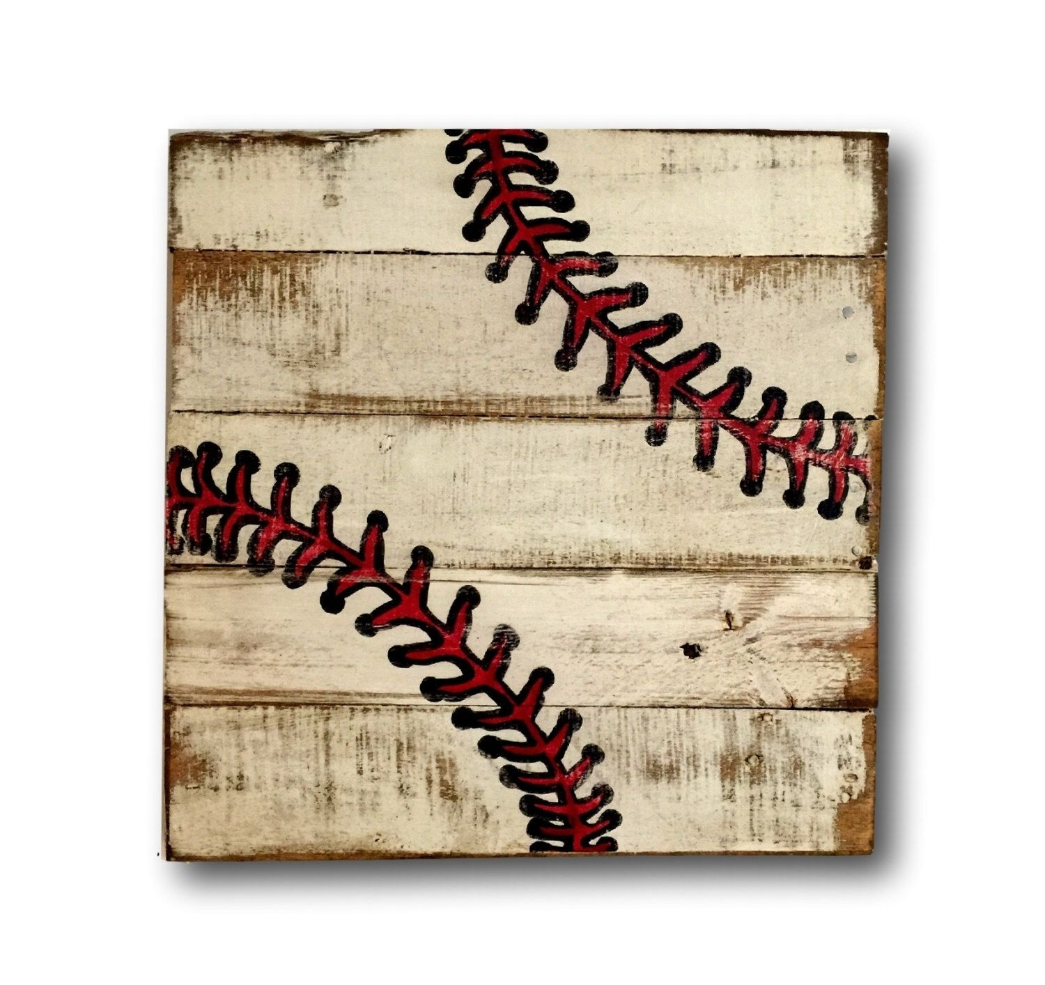 Baseball Wall Art / Sports Decor/ Rustic Vintage Baseball Sign With Regard To Current Baseball Wall Art (View 12 of 20)