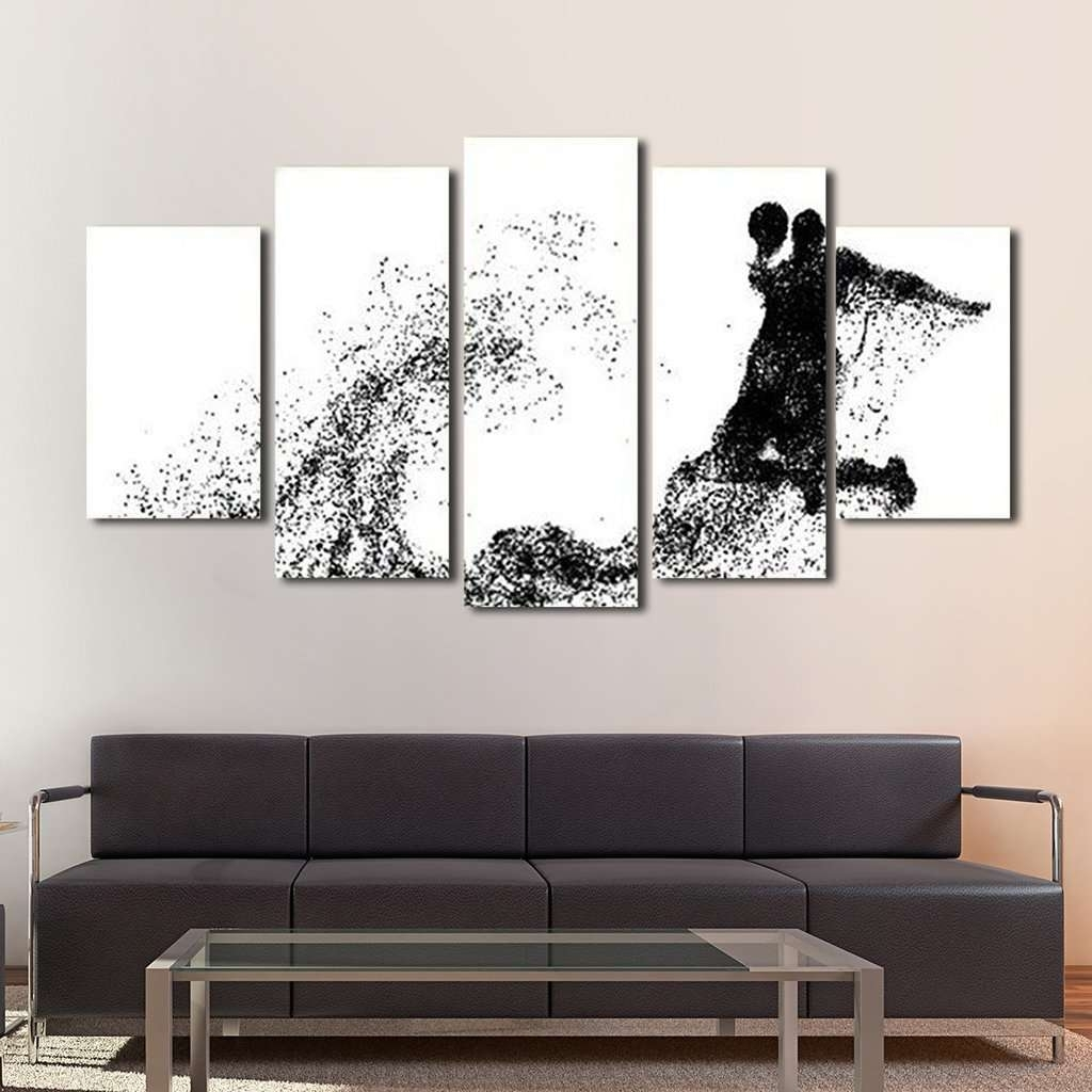 Basketball Wall Art Multi Panel Canvas – Mighty Paintings Inside Most Current Basketball Wall Art (View 5 of 15)