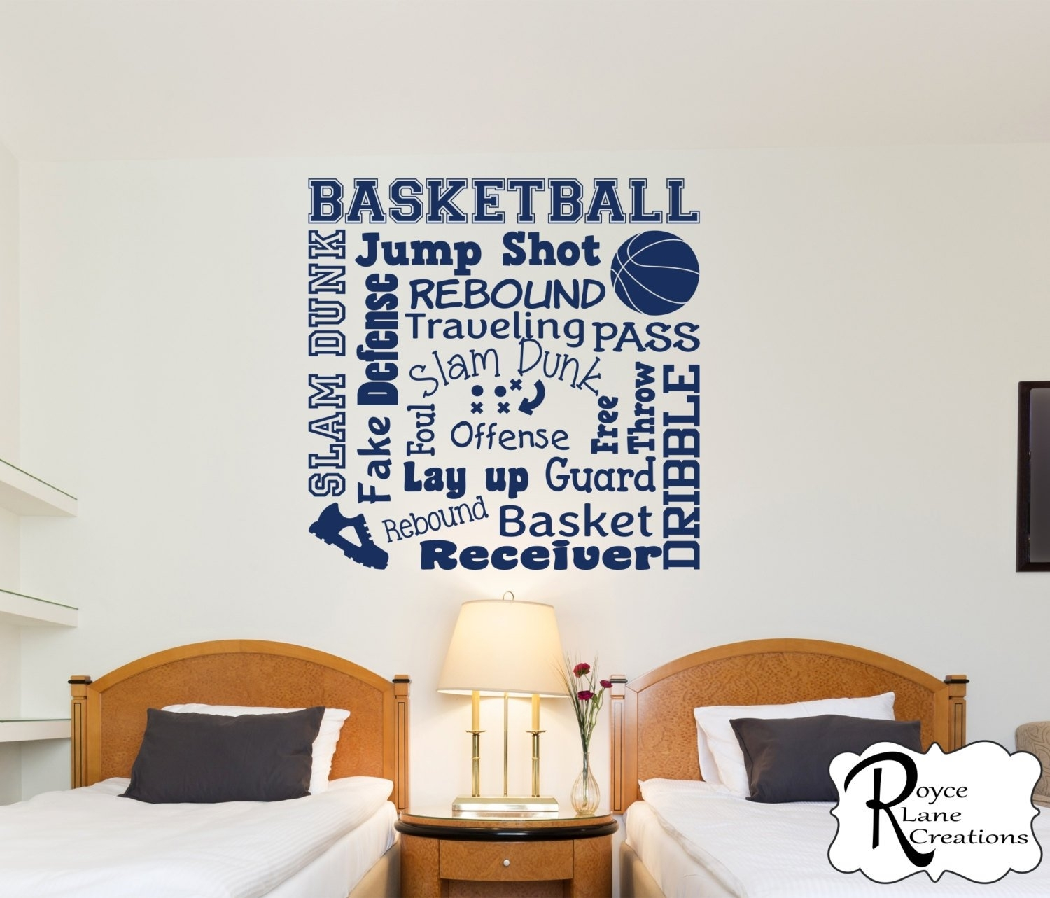 Basketball Wall Decal/basketball Wall Decals Word Art 2/sports Decor Pertaining To Best And Newest Basketball Wall Art (View 9 of 15)