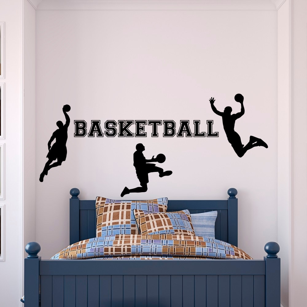 Basketball Wall Decal Sports Wall Vinyl Stickers Basketball Player Regarding Recent Sports Wall Art (View 14 of 20)