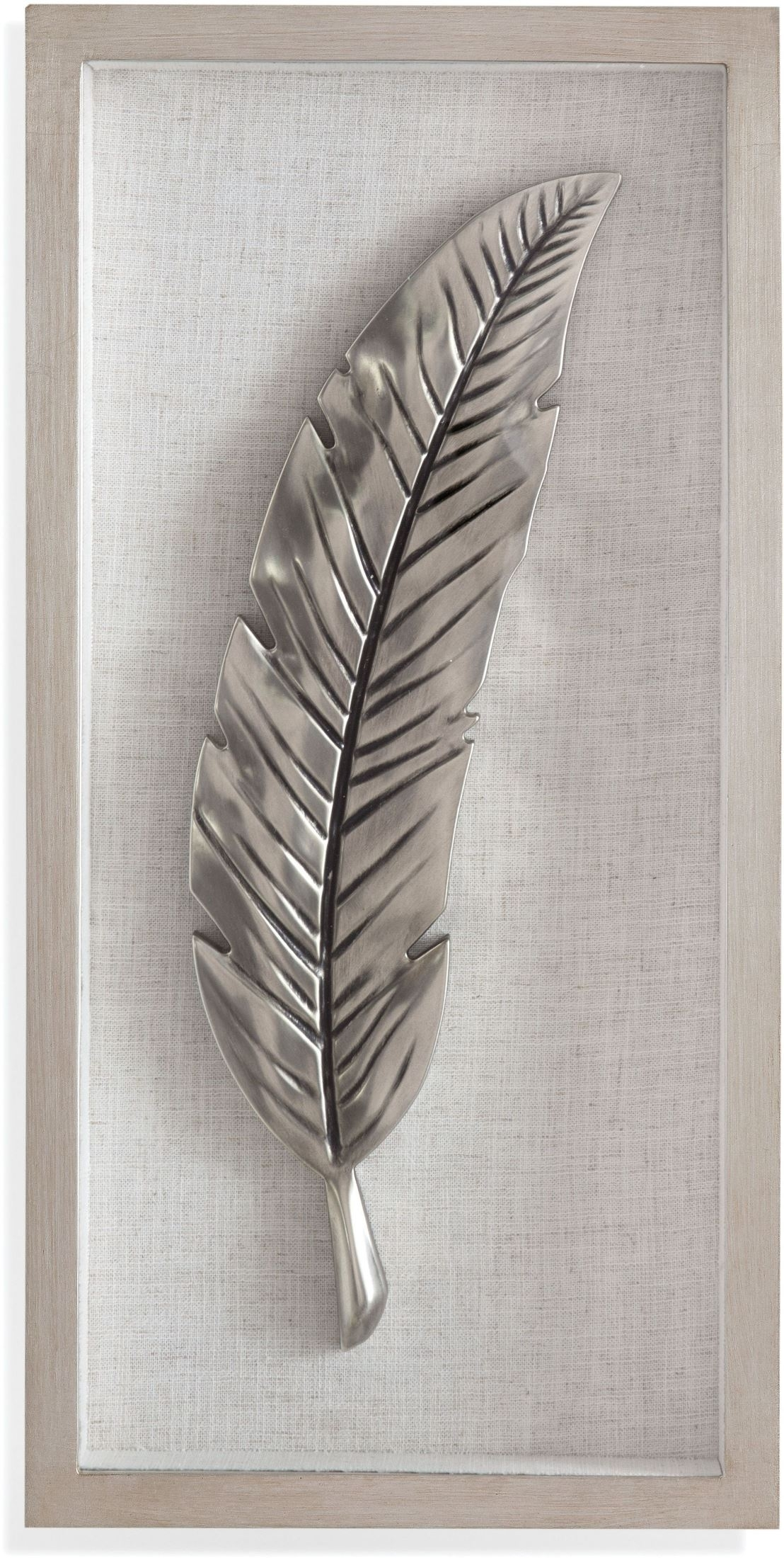 Bassett Mirror Company Silver And Black Feather Wall Art With 2017 Feather Wall Art (View 16 of 20)