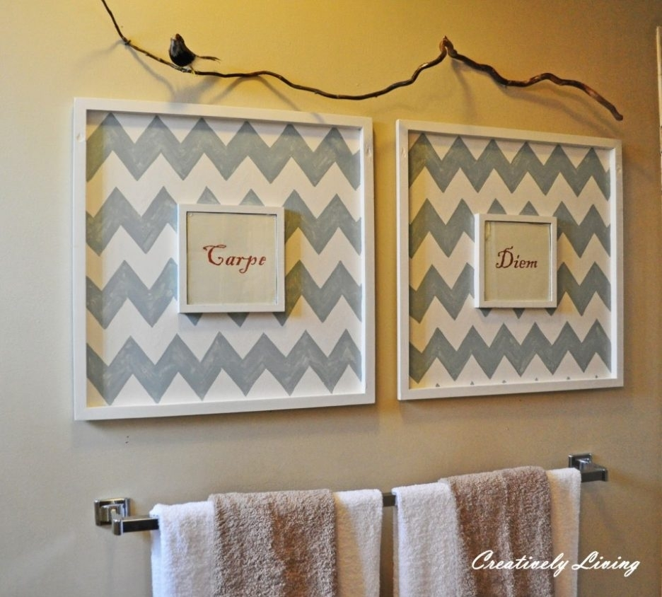 Bathroom Design : Marvelous Awesome Bathroom Canvas Art Diy Bathroom Intended For Most Current Wall Art For Bathroom (Gallery 17 of 20)
