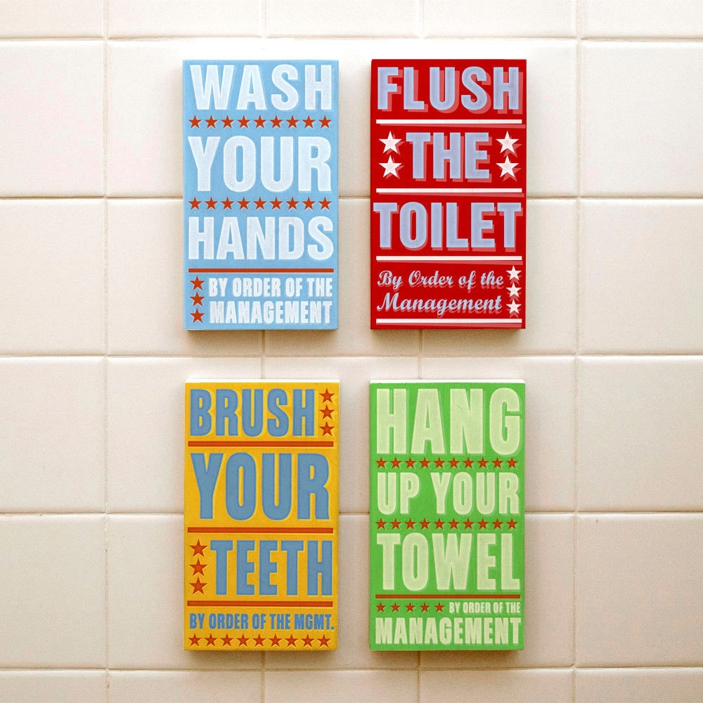 Bathroom Wall Art & Decorating Tips » Inoutinterior Throughout Latest Bathroom Wall Art Decors (View 15 of 15)