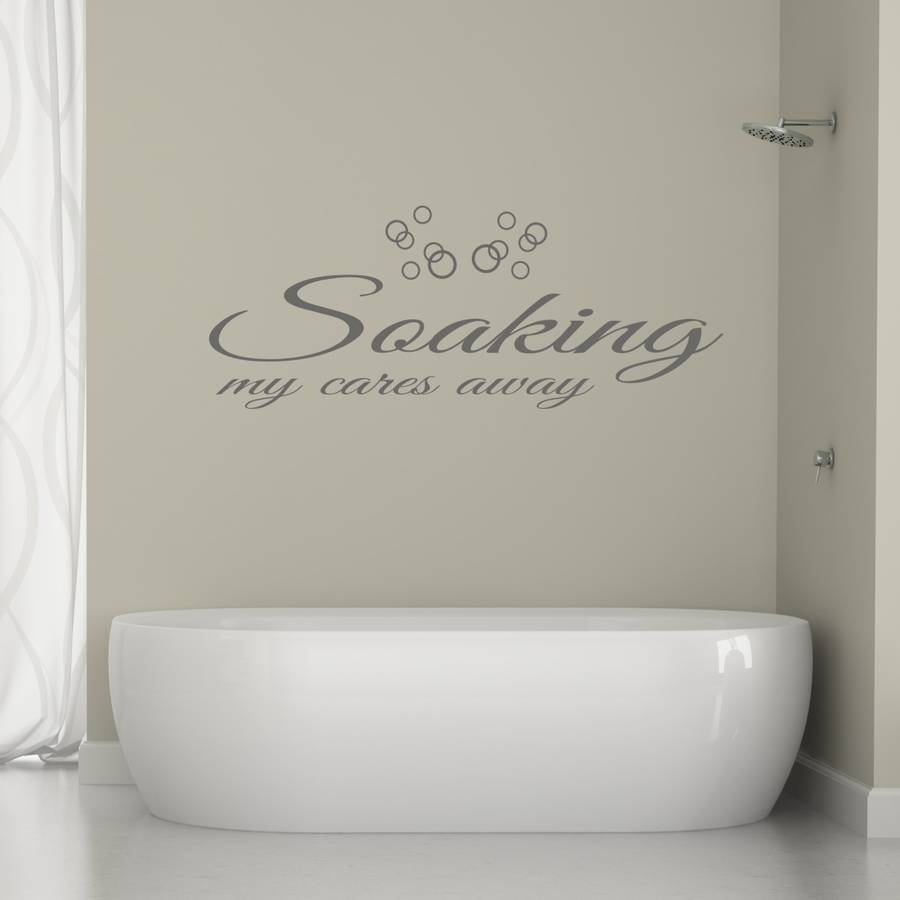 Bathroom Wall Art Quotemirrorin | Notonthehighstreet With Current Bathroom Wall Art (View 4 of 15)
