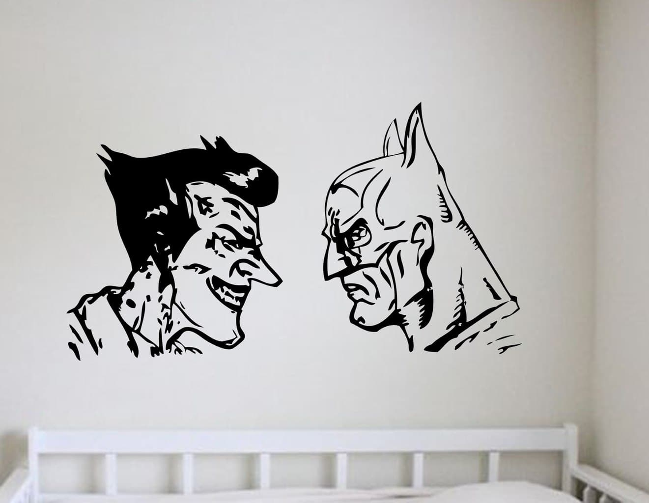 Batman And Joker Wall Art Decal | Wall Decal | Wall Art For Latest Joker Wall Art (Gallery 2 of 20)