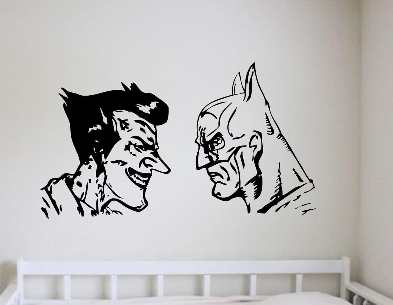 Batman And Joker Wall Art Decal | Wall Decal | Wall Art For Latest Joker Wall Art (View 2 of 20)
