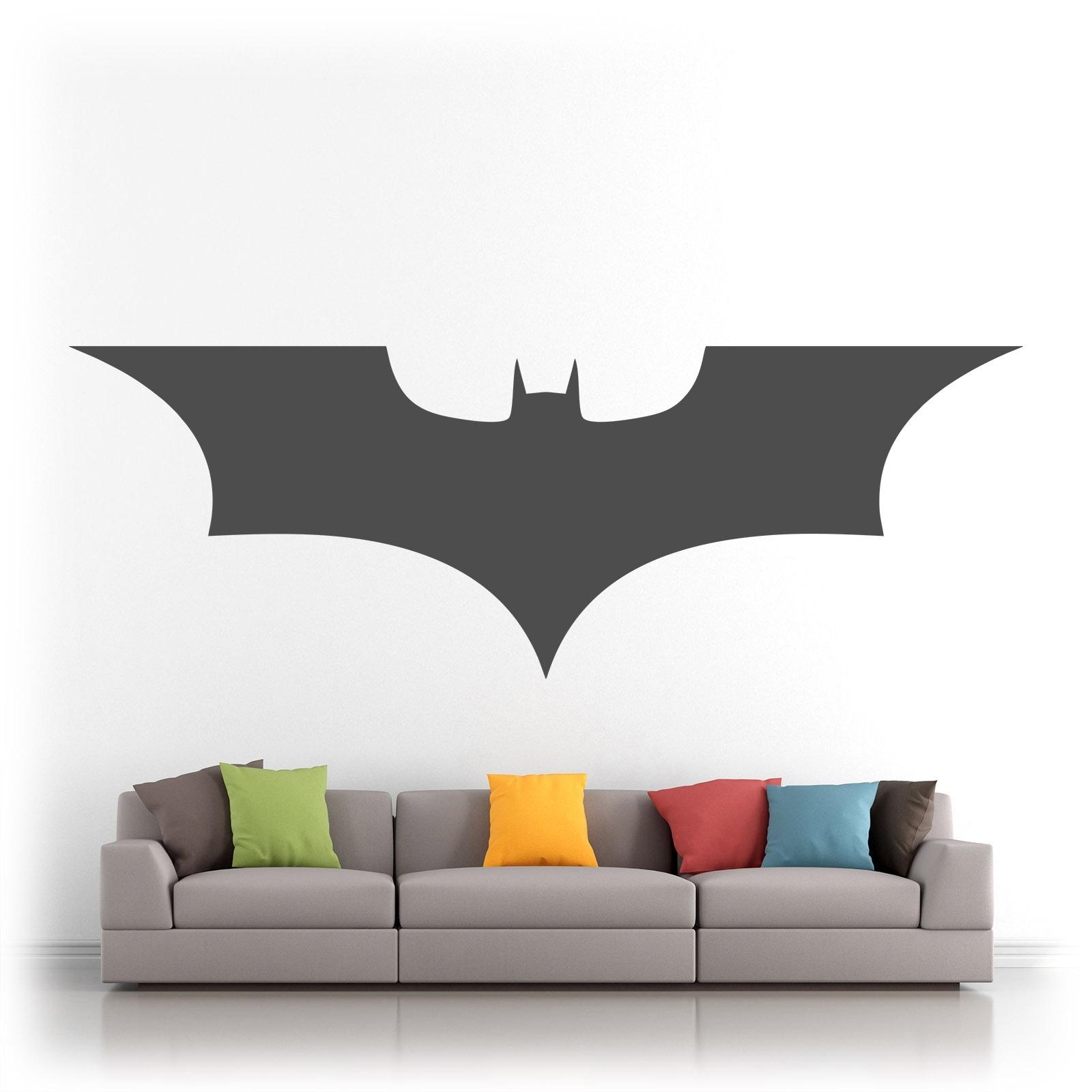 Batman Logo Superhero Vinyl Wall Art Sticker Decal Silhouette Matt For Most Up To Date Batman Wall Art (View 9 of 20)