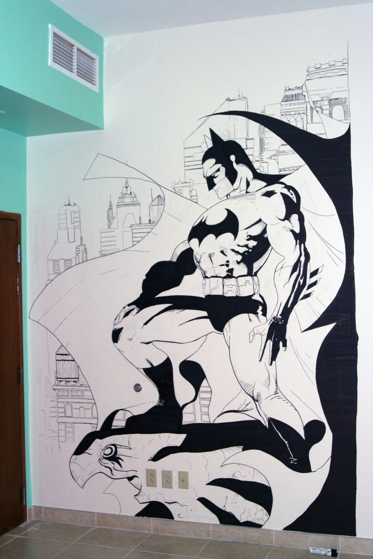 Batman Wall Artzabbah On Deviantart Regarding Recent Batman Wall Art (Gallery 11 of 20)