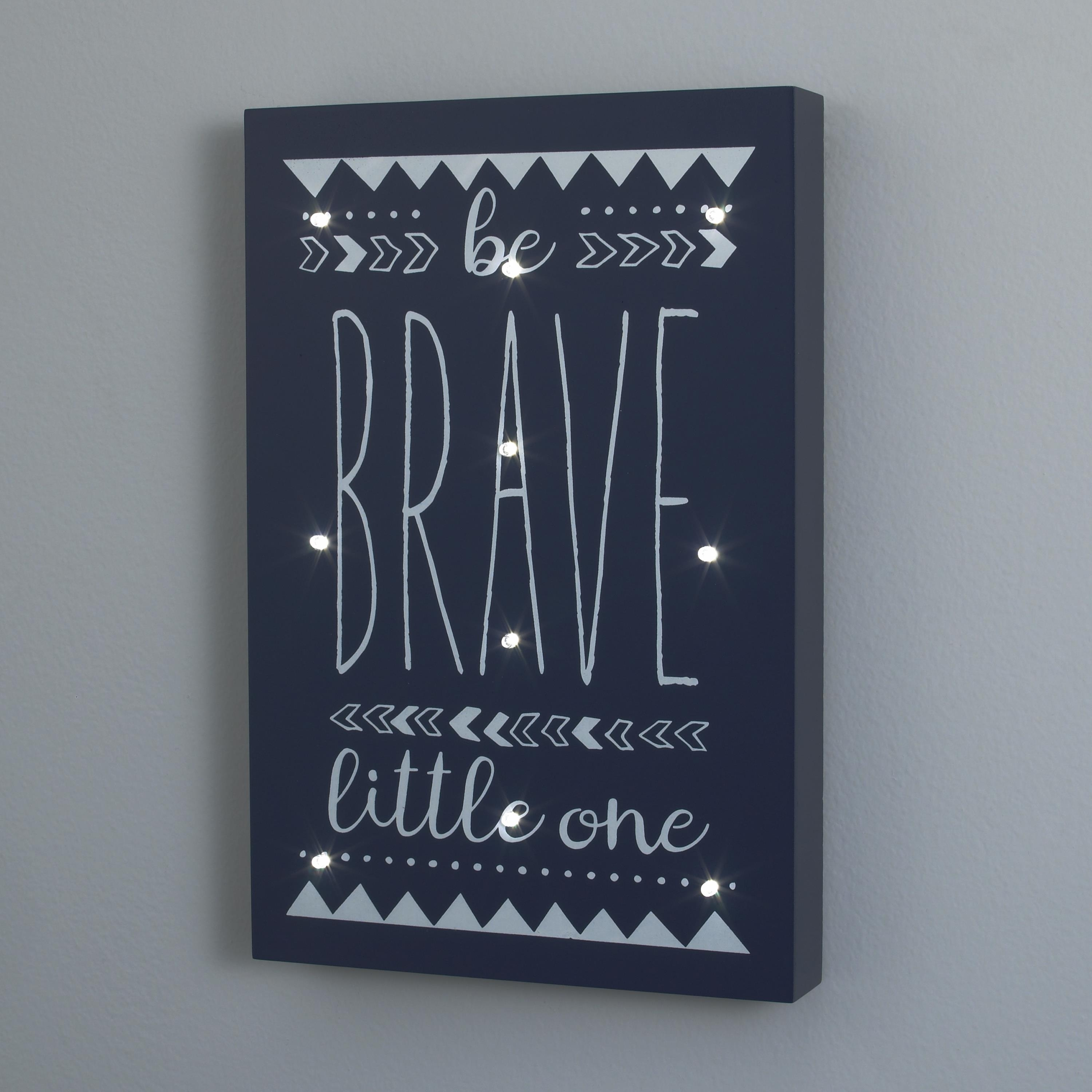 Be Brave Lighted Wall Art | Carousel Designs Throughout Most Popular Lighted Wall Art (View 7 of 20)