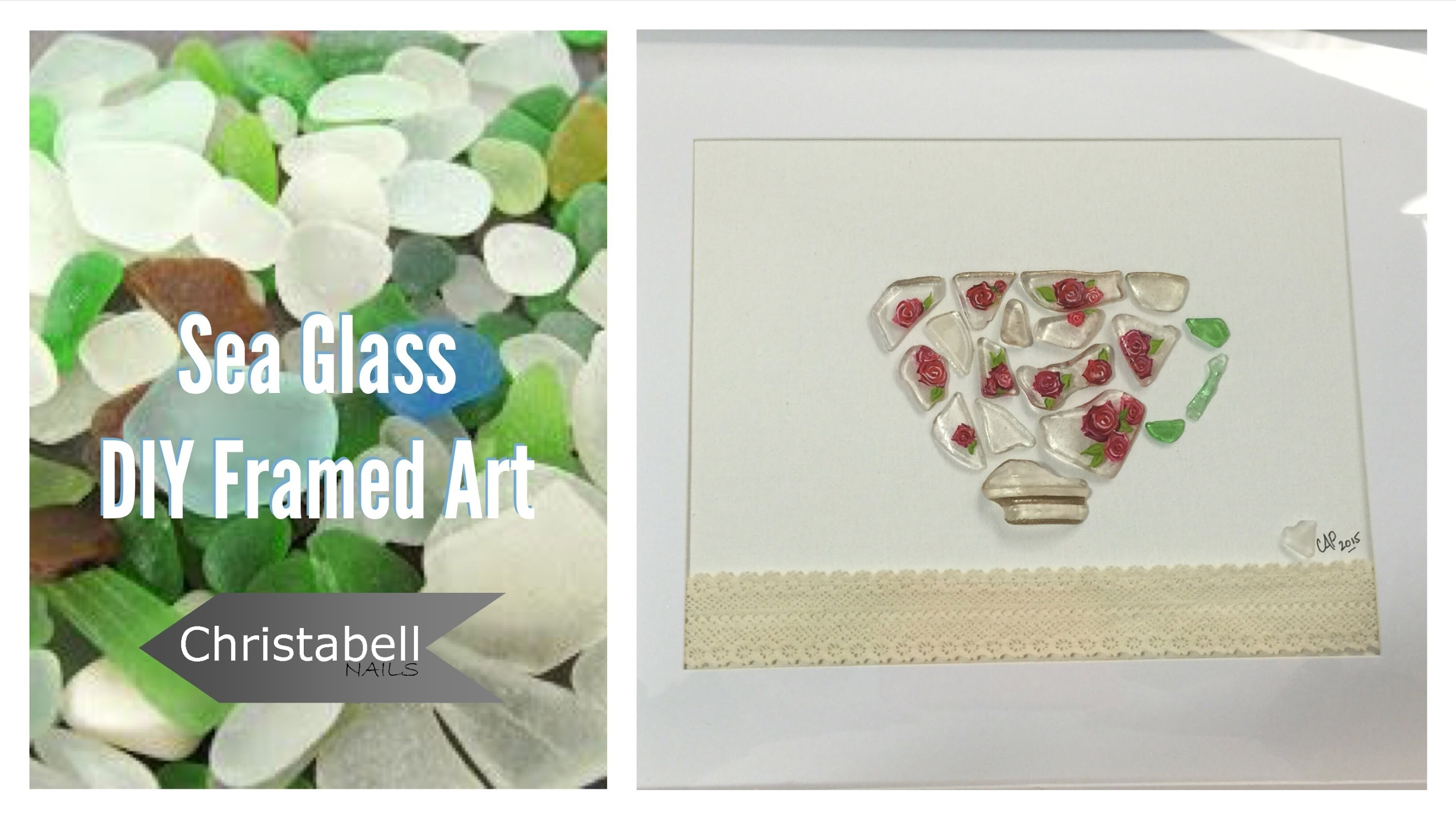 Beach Glass Framed Art – Diy Project – Youtube Throughout Current Sea Glass Wall Art (View 13 of 15)