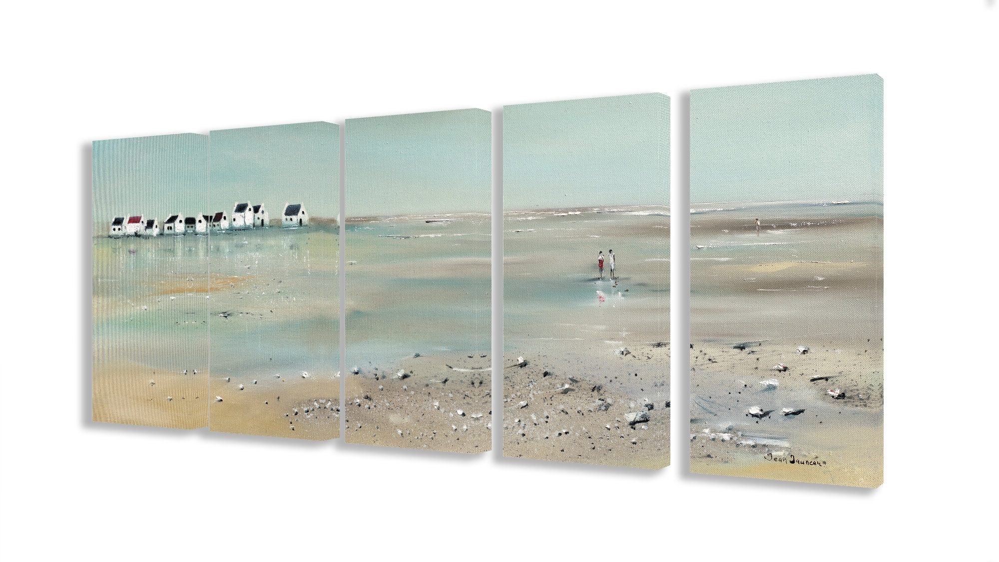 Beachcrest Home 'a Stroll Down On The Beach' 5 Piece Canvas Wall Art Within Newest 5 Piece Canvas Wall Art (Gallery 15 of 20)